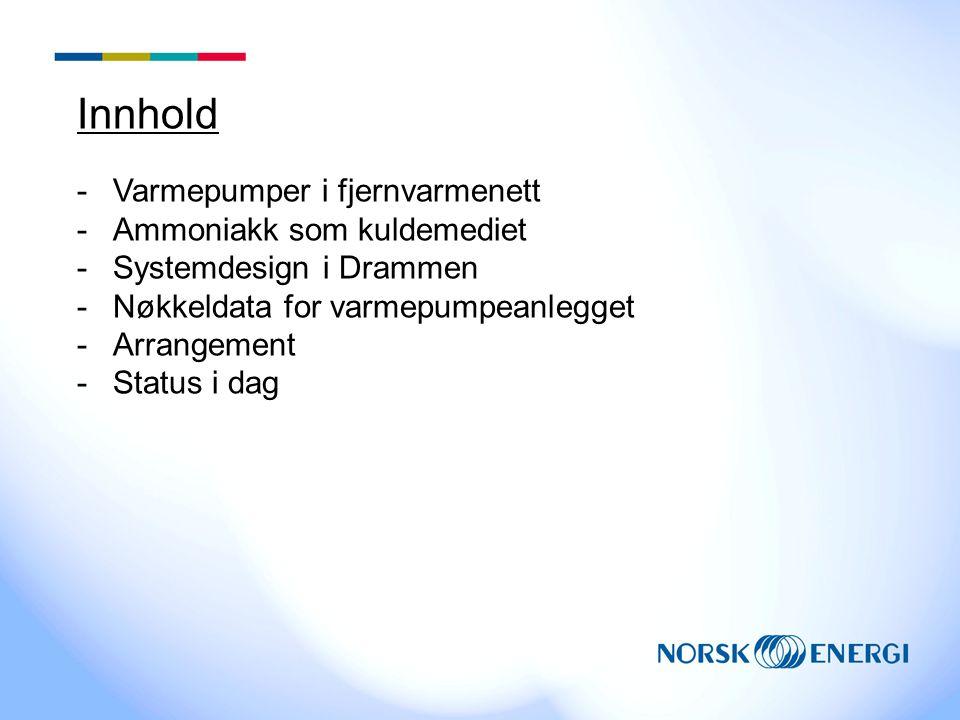 Innhold Varmepumper i fjernvarmenett Ammoniakk som kuldemediet