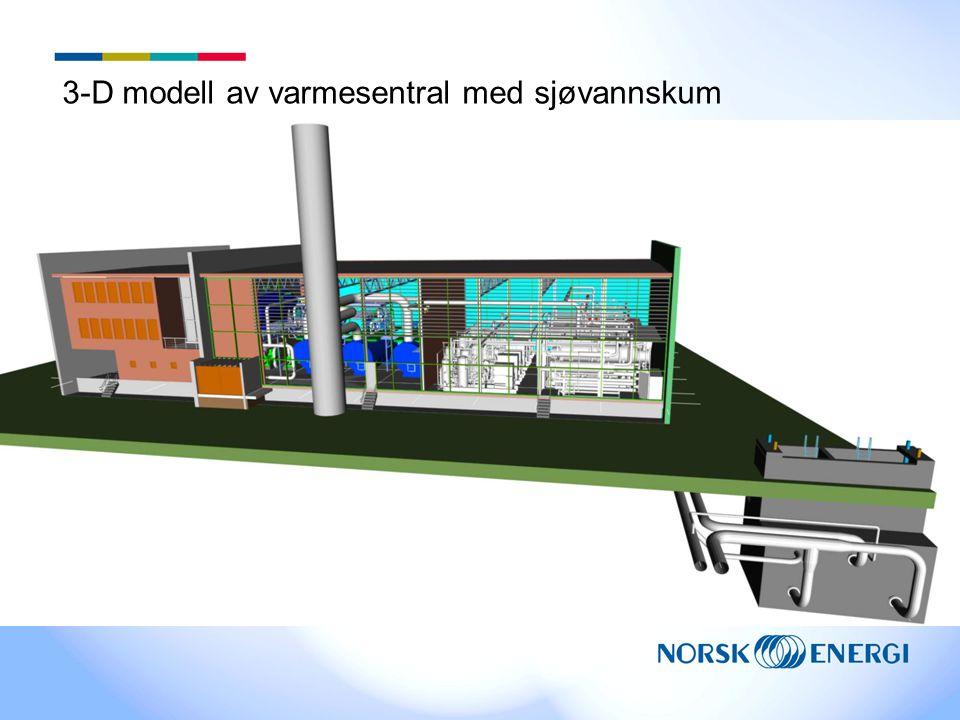 3-D modell av varmesentral med sjøvannskum