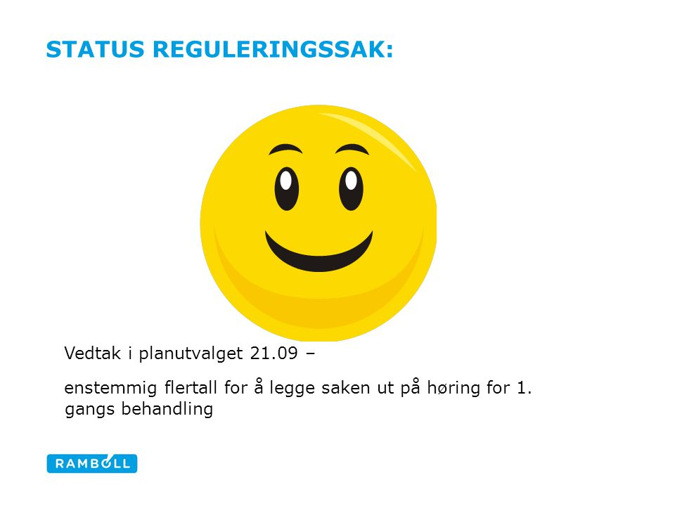 Status reguleringssak: