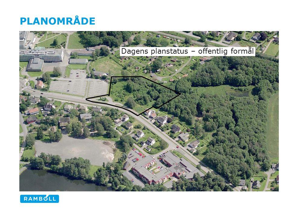 Planområde Dagens planstatus – offentlig formål