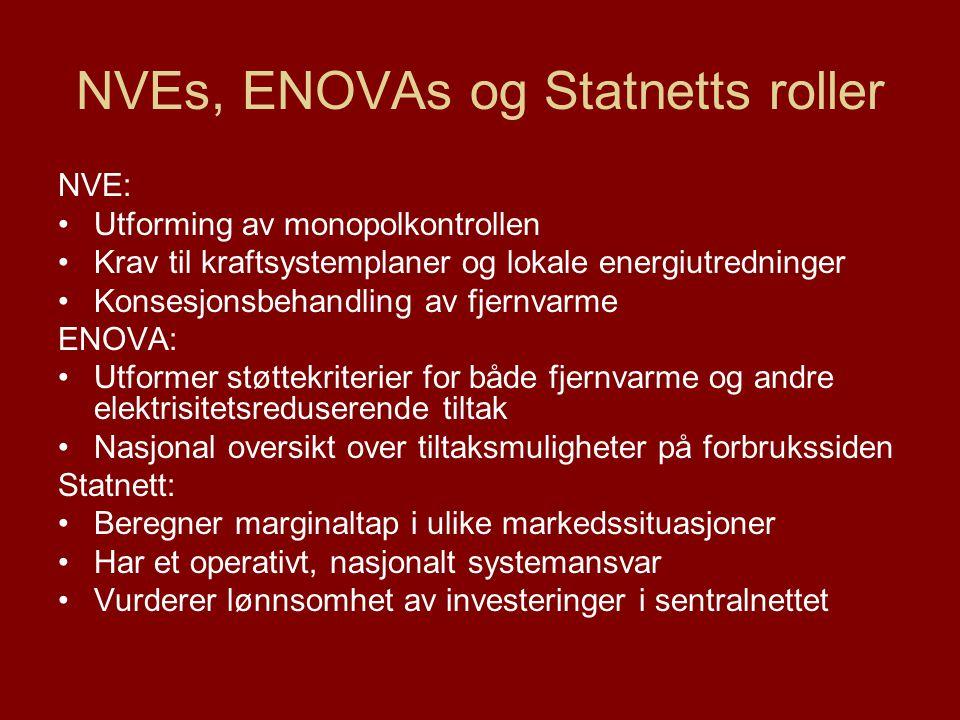 NVEs, ENOVAs og Statnetts roller