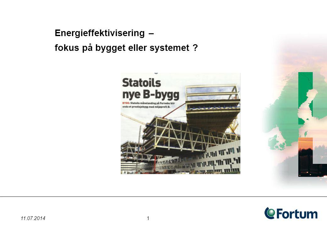 Energieffektivisering – fokus på bygget eller systemet