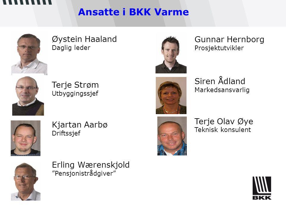 Ansatte i BKK Varme Øystein Haaland Gunnar Hernborg Siren Ådland