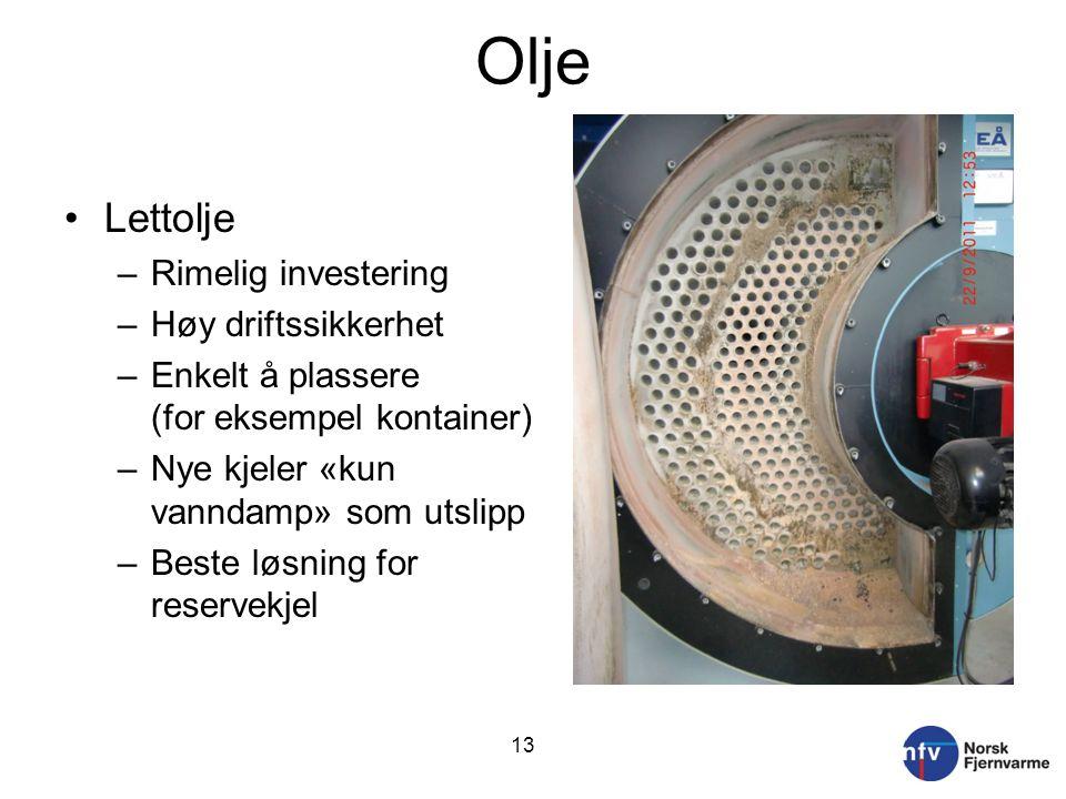 Olje Lettolje Rimelig investering Høy driftssikkerhet
