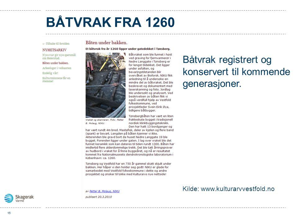 Båtvrak fra 1260 Båtvrak registrert og konservert til kommende generasjoner.