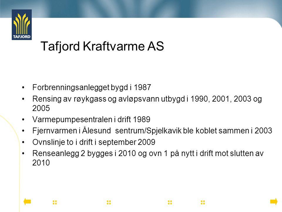 Tafjord Kraftvarme AS Forbrenningsanlegget bygd i 1987