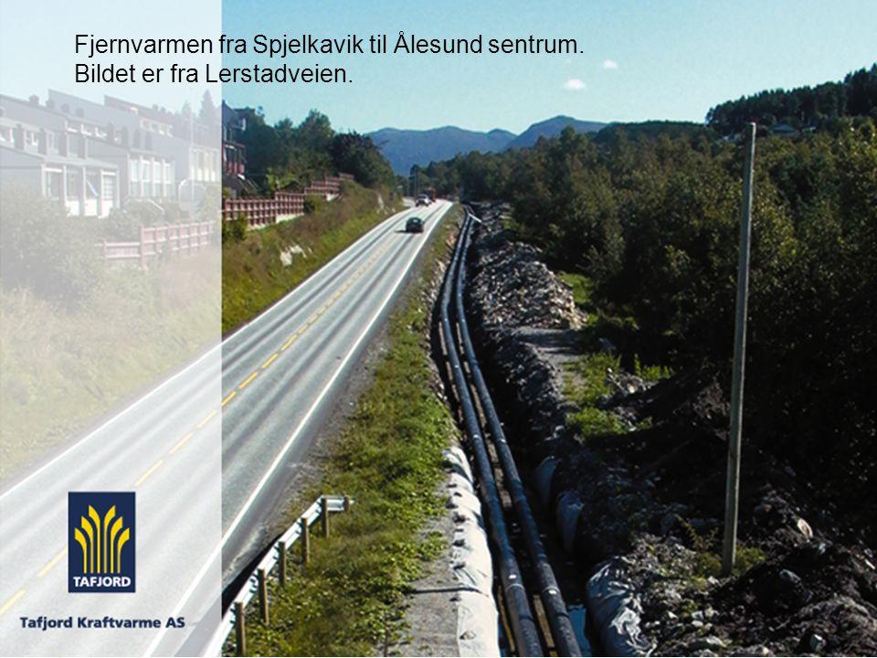Fjernvarmen fra Spjelkavik til Ålesund sentrum.
