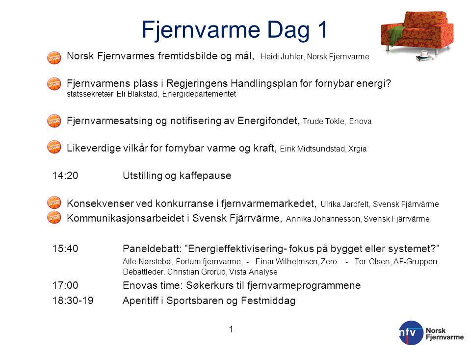 Fjernvarme Dag 1 Norsk Fjernvarmes fremtidsbilde og mål, Heidi Juhler, Norsk Fjernvarme.