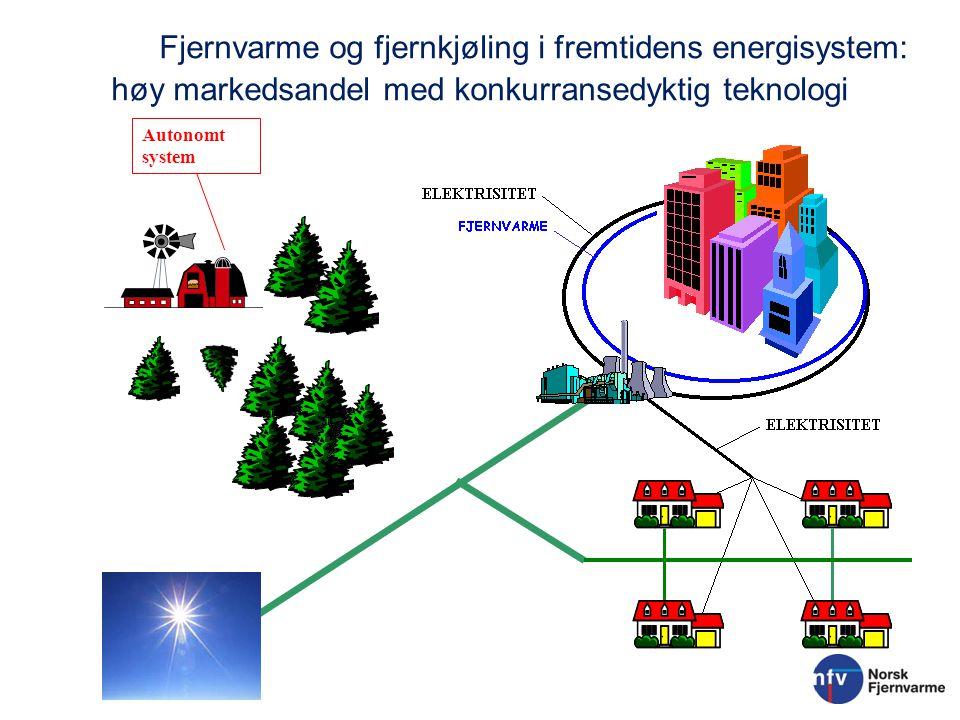 Fjernvarme og fjernkjøling i fremtidens energisystem: høy markedsandel med konkurransedyktig teknologi