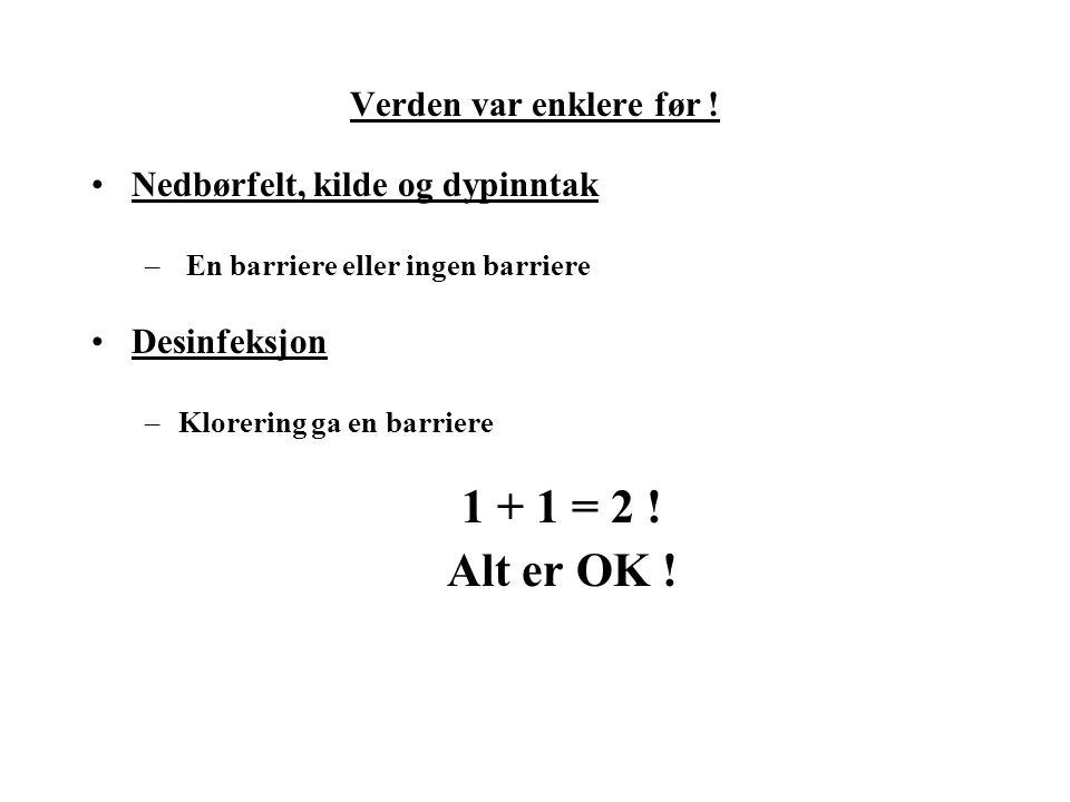 1 + 1 = 2 ! Alt er OK ! Verden var enklere før !