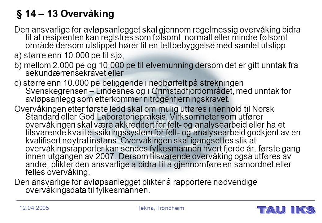 § 14 – 13 Overvåking