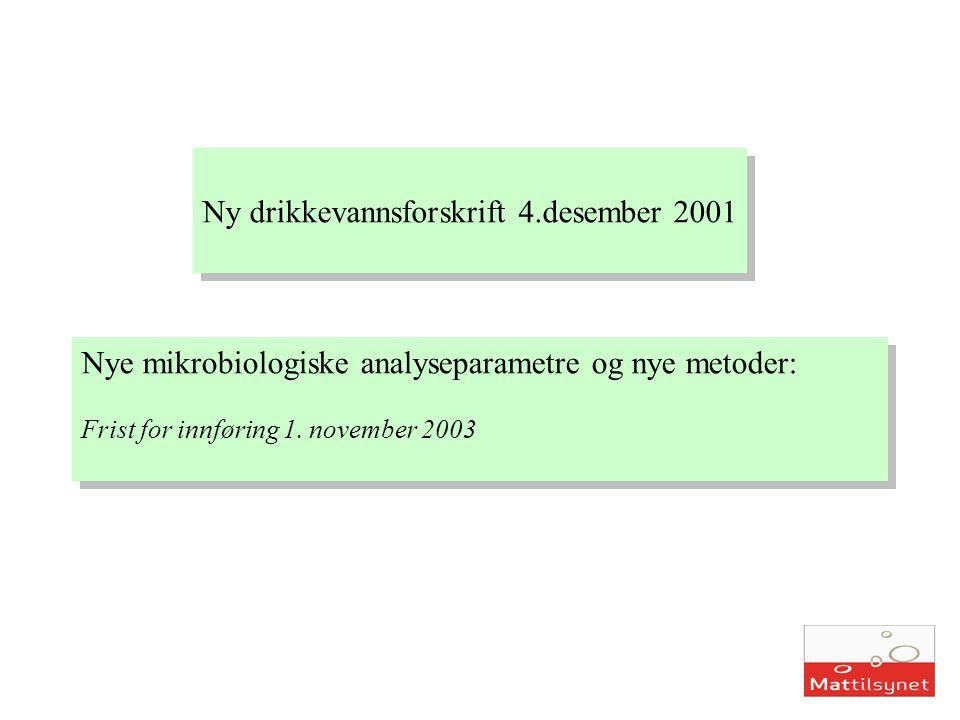 Ny drikkevannsforskrift 4.desember 2001