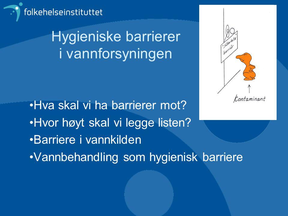 Hygieniske barrierer i vannforsyningen
