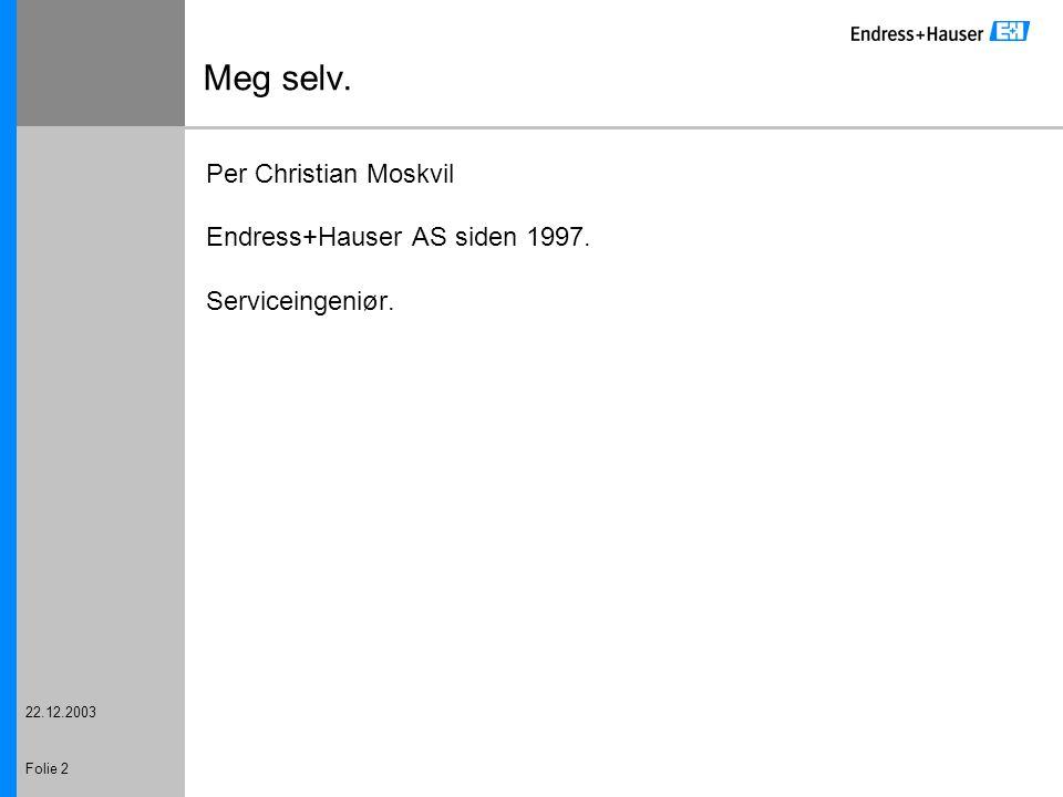 Meg selv. Per Christian Moskvil Endress+Hauser AS siden 1997.