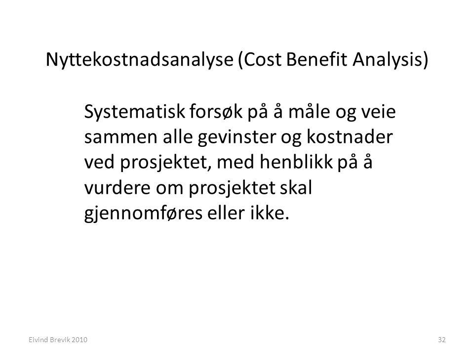 Nyttekostnadsanalyse (Cost Benefit Analysis)