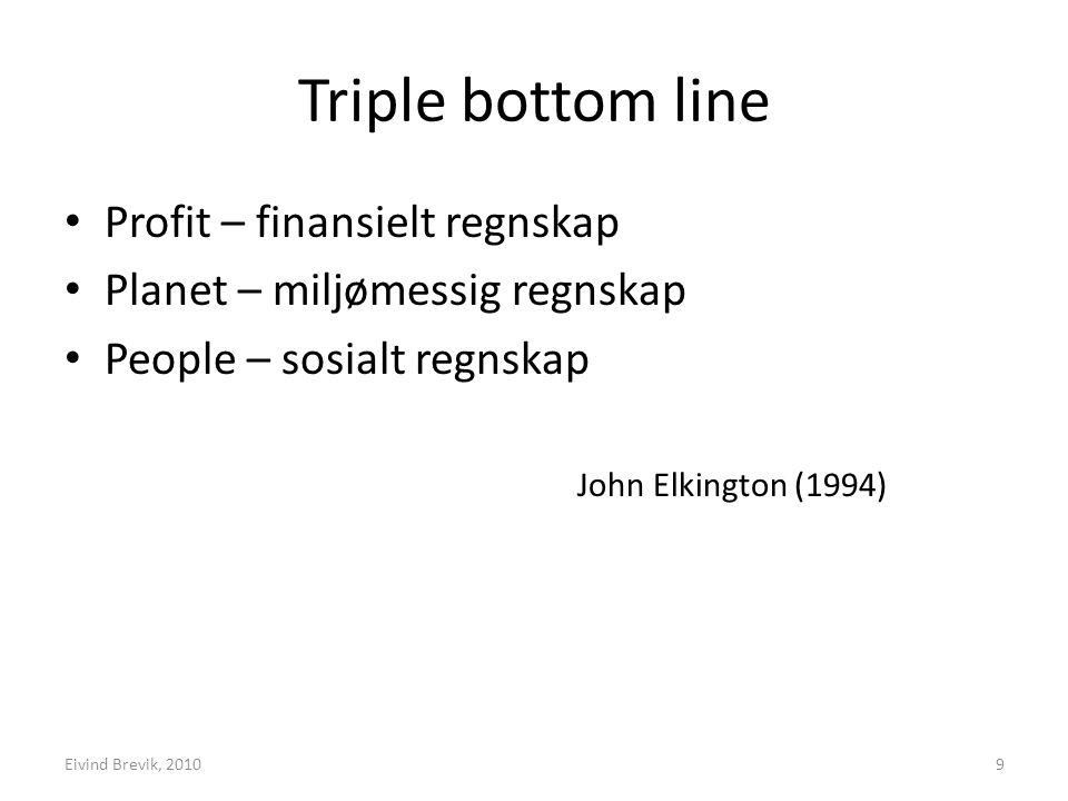 Triple bottom line Profit – finansielt regnskap