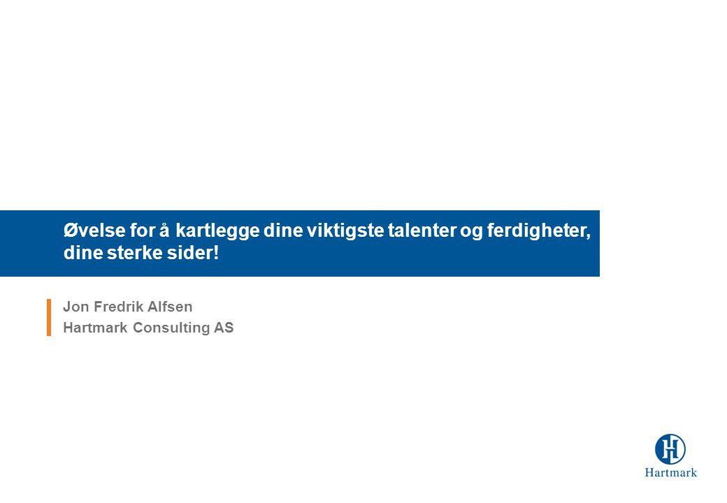 Jon Fredrik Alfsen Hartmark Consulting AS