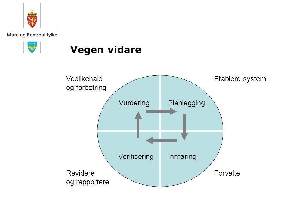 Vegen vidare Vedlikehald og forbetring Etablere system Vurdering