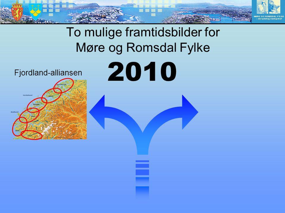 To mulige framtidsbilder for Møre og Romsdal Fylke