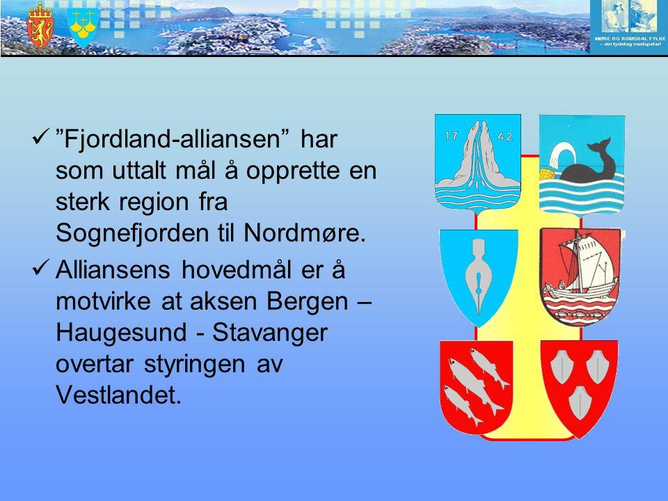 Fjordland-alliansen har som uttalt mål å opprette en sterk region fra Sognefjorden til Nordmøre.