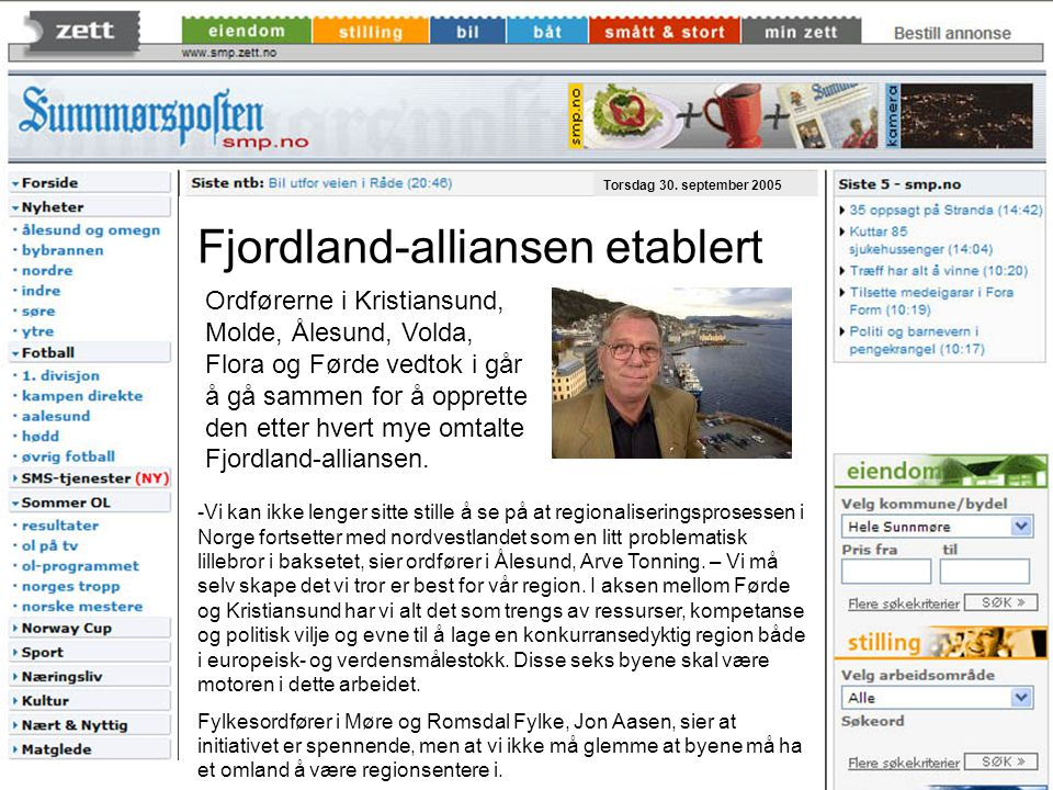 Fjordland-alliansen etablert