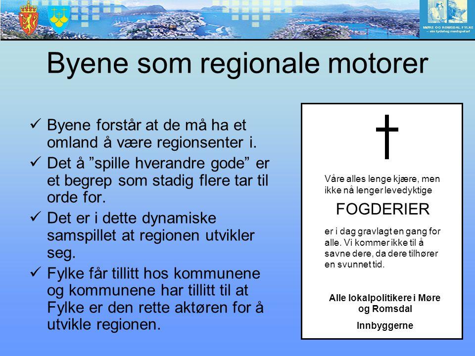 Byene som regionale motorer