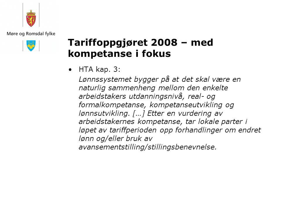 Tariffoppgjøret 2008 – med kompetanse i fokus
