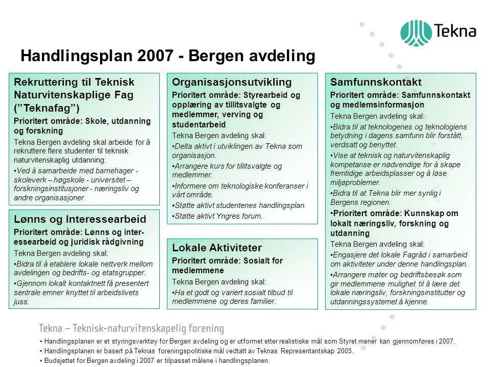 Handlingsplan 2007 - Bergen avdeling