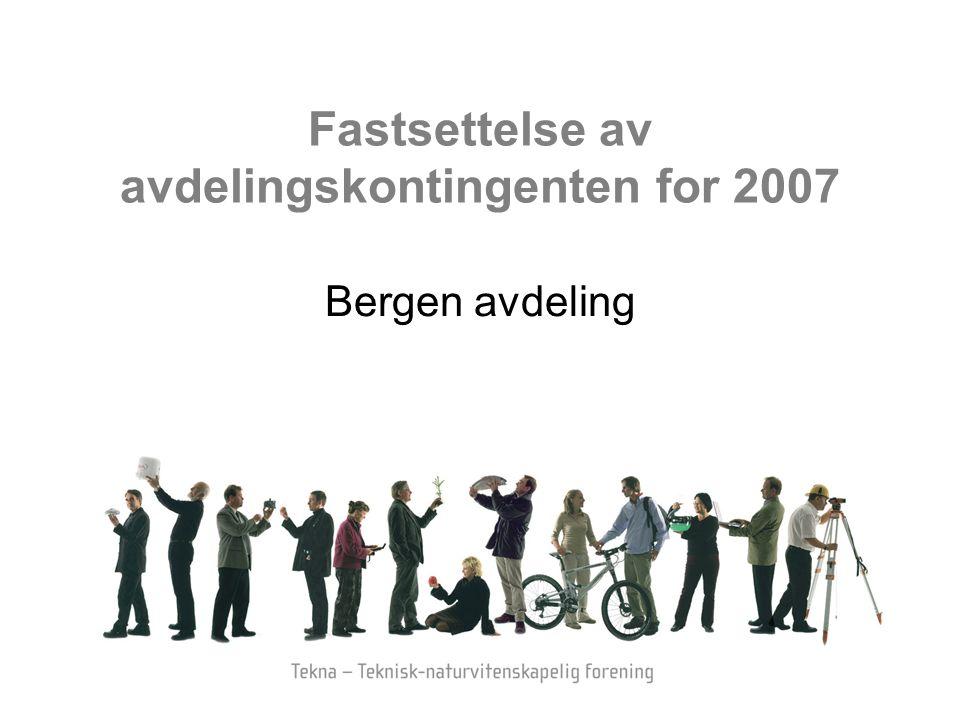 Fastsettelse av avdelingskontingenten for 2007