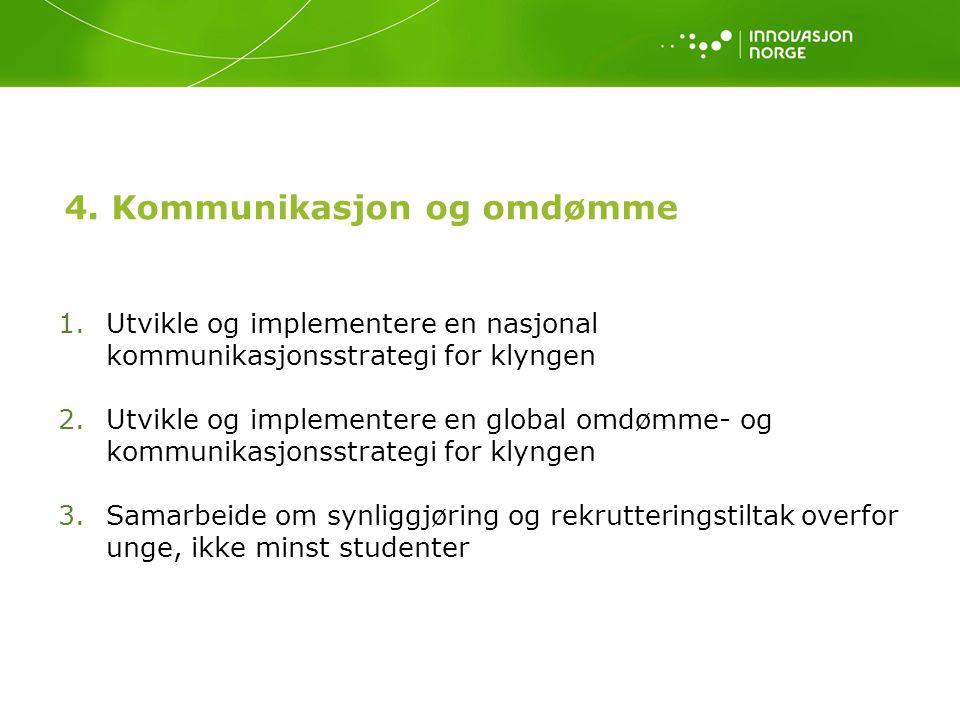 4. Kommunikasjon og omdømme