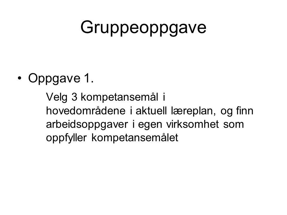 Gruppeoppgave Oppgave 1.