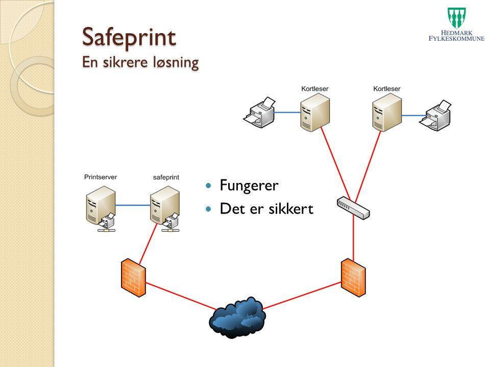 Safeprint En sikrere løsning