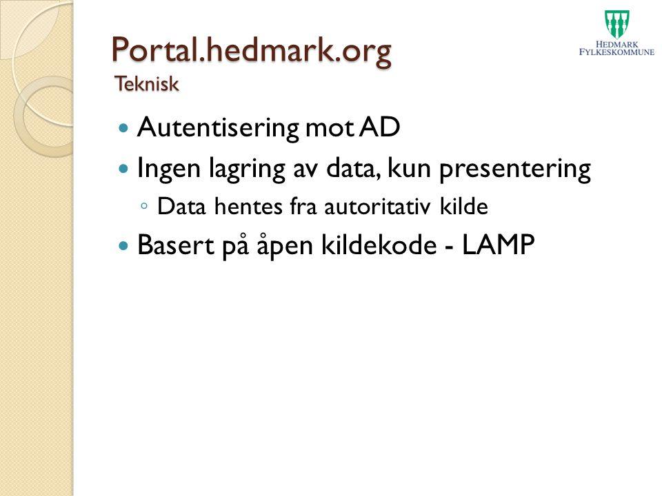 Portal.hedmark.org Teknisk