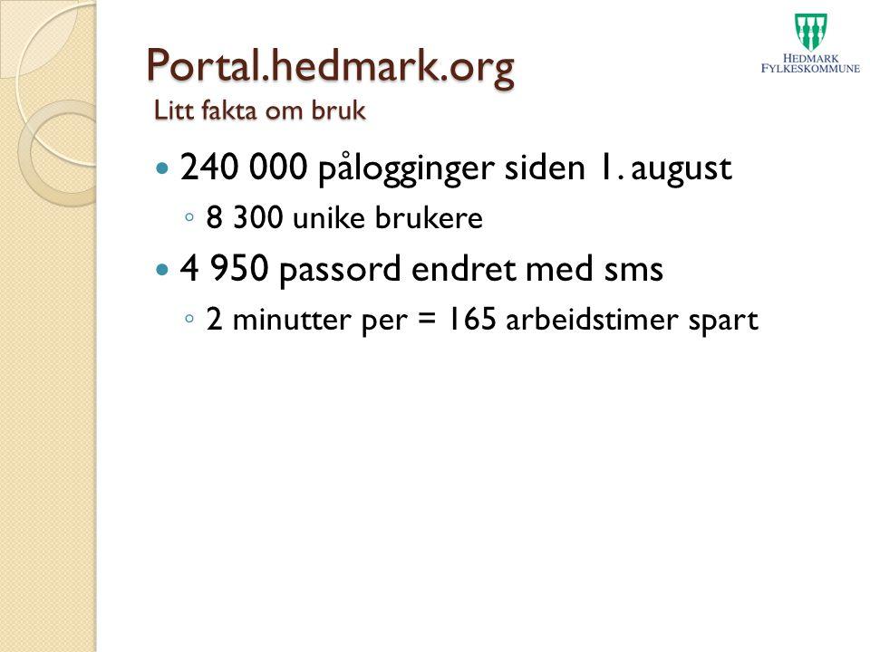 Portal.hedmark.org Litt fakta om bruk