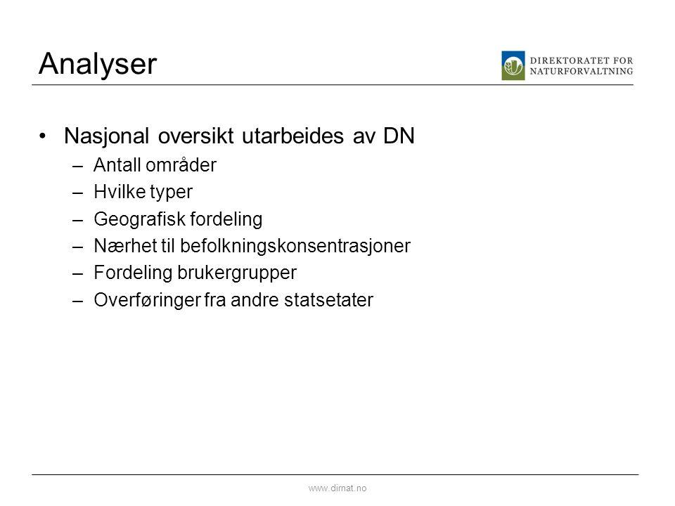 Analyser Nasjonal oversikt utarbeides av DN Antall områder