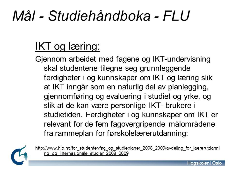 Mål - Studiehåndboka - FLU
