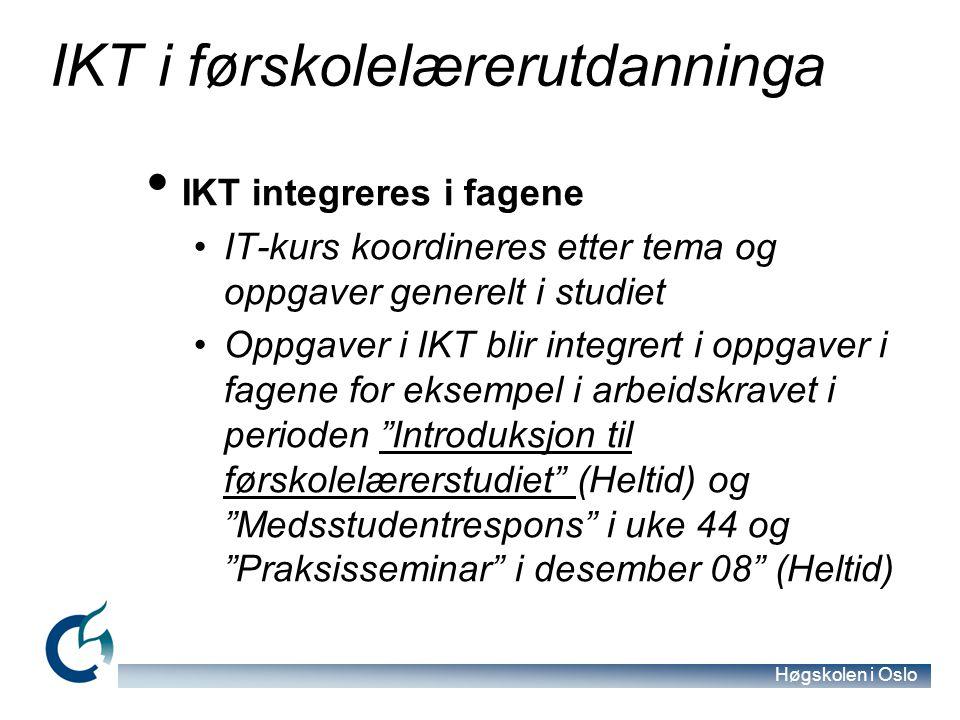 IKT i førskolelærerutdanninga