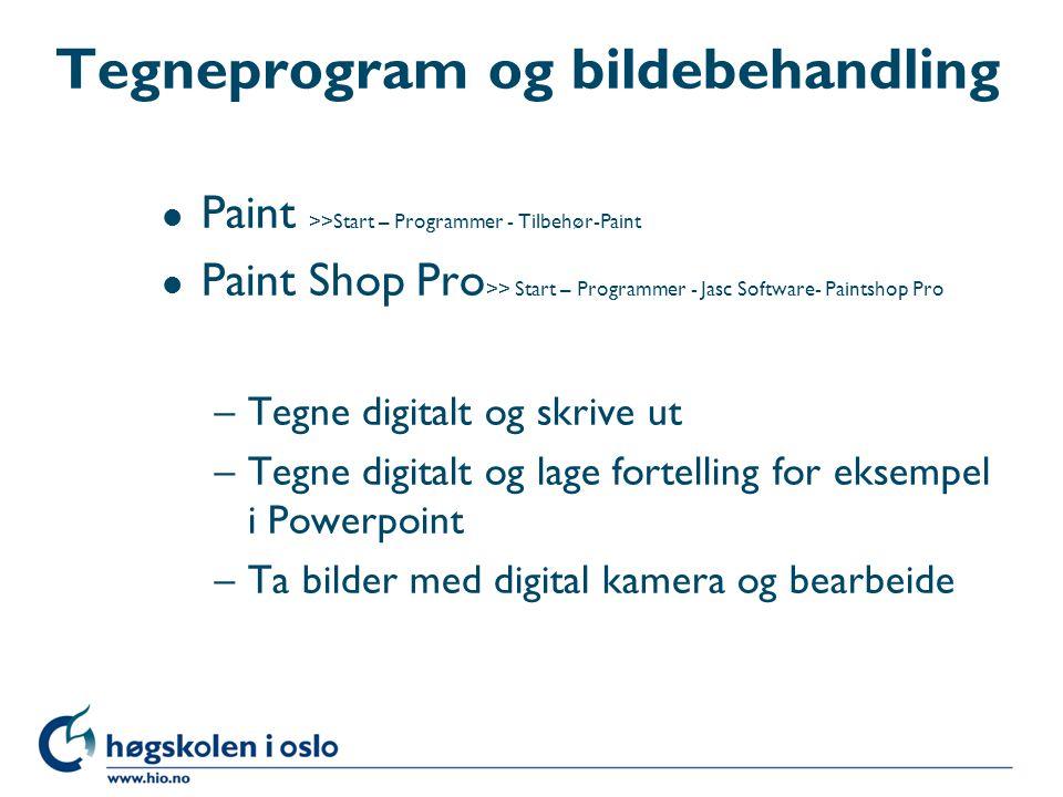 Tegneprogram og bildebehandling