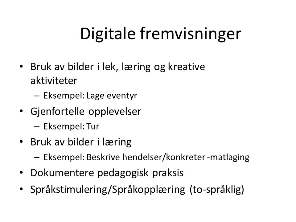 Digitale fremvisninger