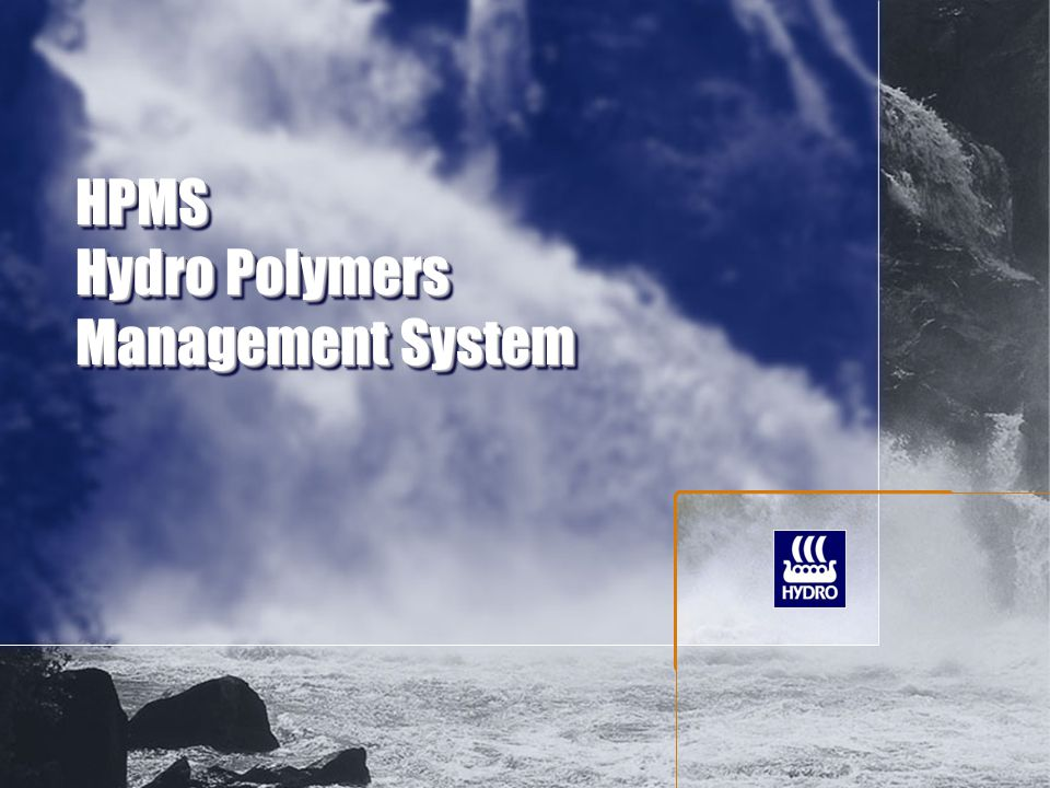 HPMS Hydro Polymers Management System