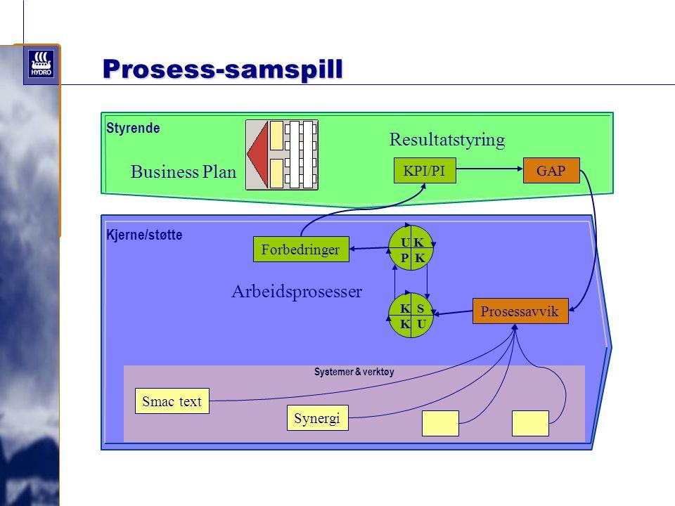 Prosess-samspill Resultatstyring Business Plan Arbeidsprosesser