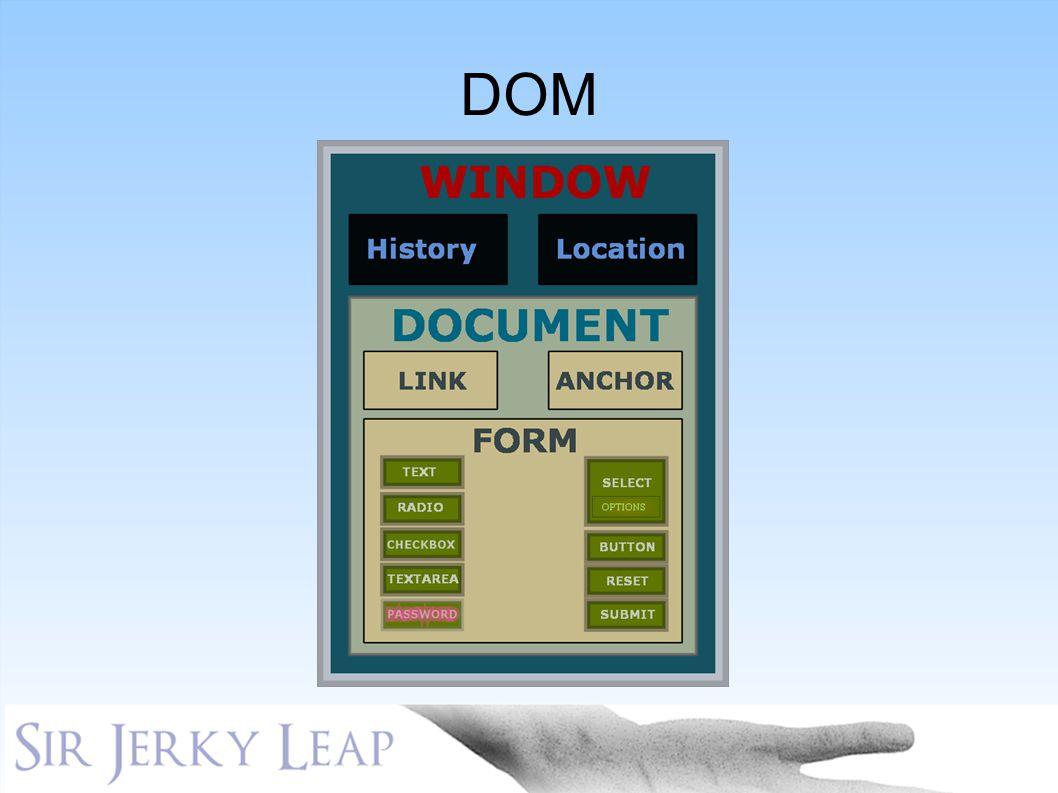 DOM KLIKK KLIKK Scriptaculous og prototype er to javascript-rammeverk, spesielt egnet KLIKK. AJAX…synkrone kall mot bakende gjør… KLIKK.
