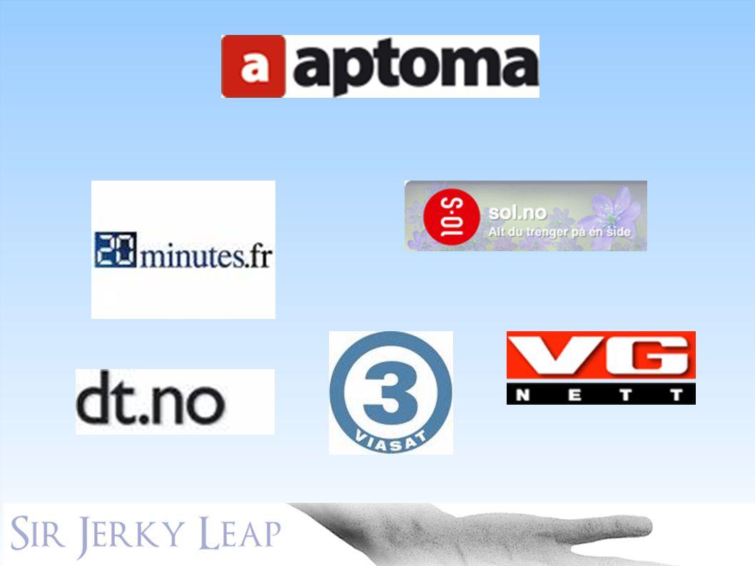 Aptoma AS. Aptoma jobber primært med webapplikasjoner for nyhetsredaksjoner på nett, (KLIKK)