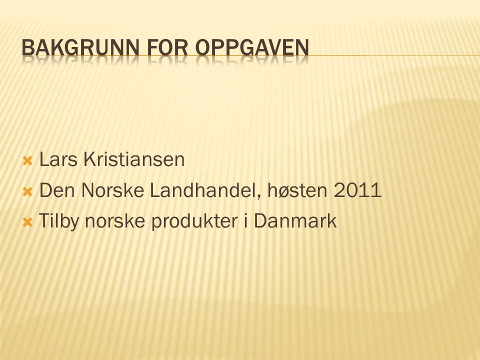 Bakgrunn for oppgaven Lars Kristiansen