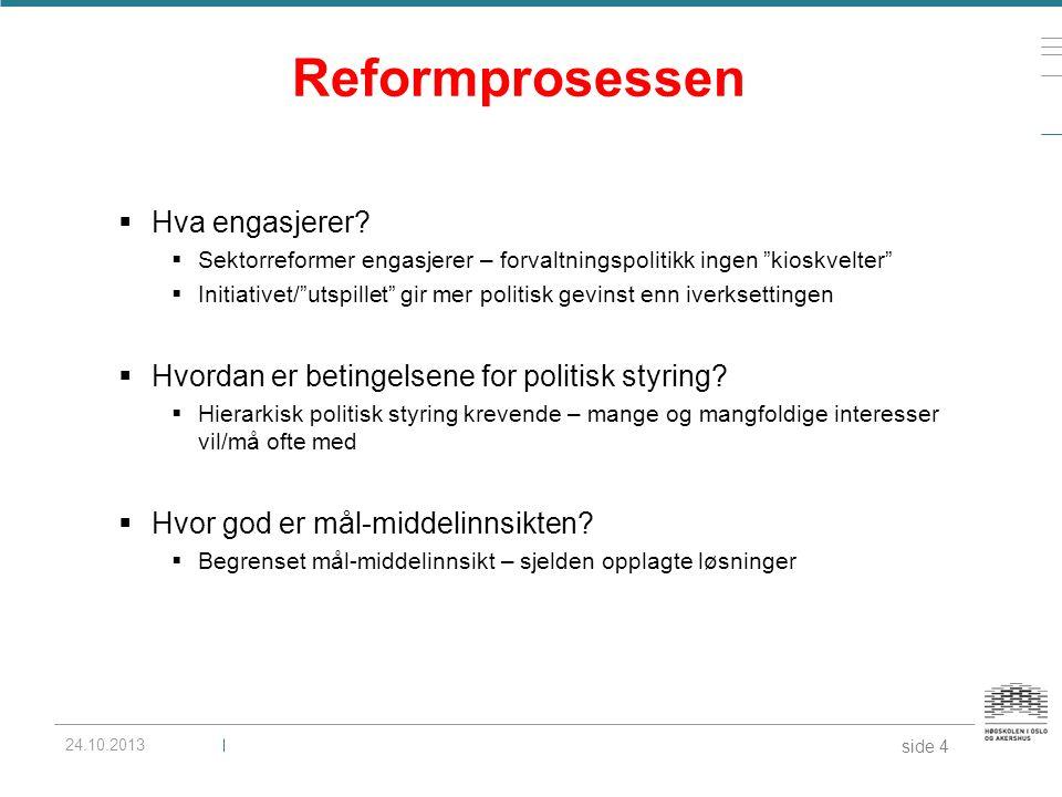 Reformprosessen Hva engasjerer