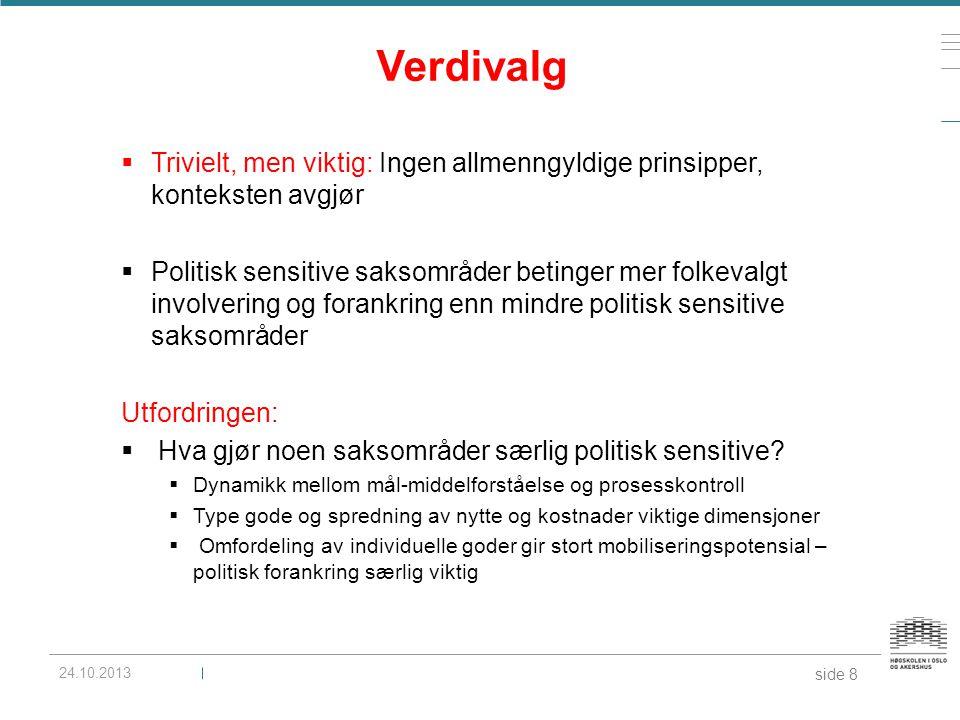 Verdivalg Trivielt, men viktig: Ingen allmenngyldige prinsipper, konteksten avgjør.