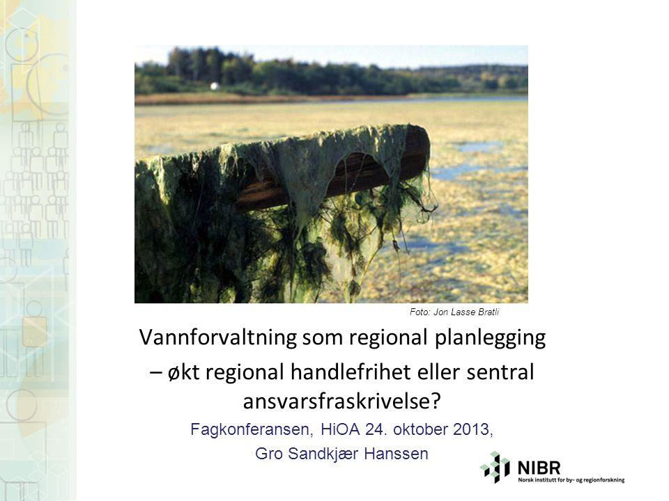 Vannforvaltning som regional planlegging