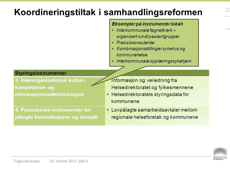 Koordineringstiltak i samhandlingsreformen