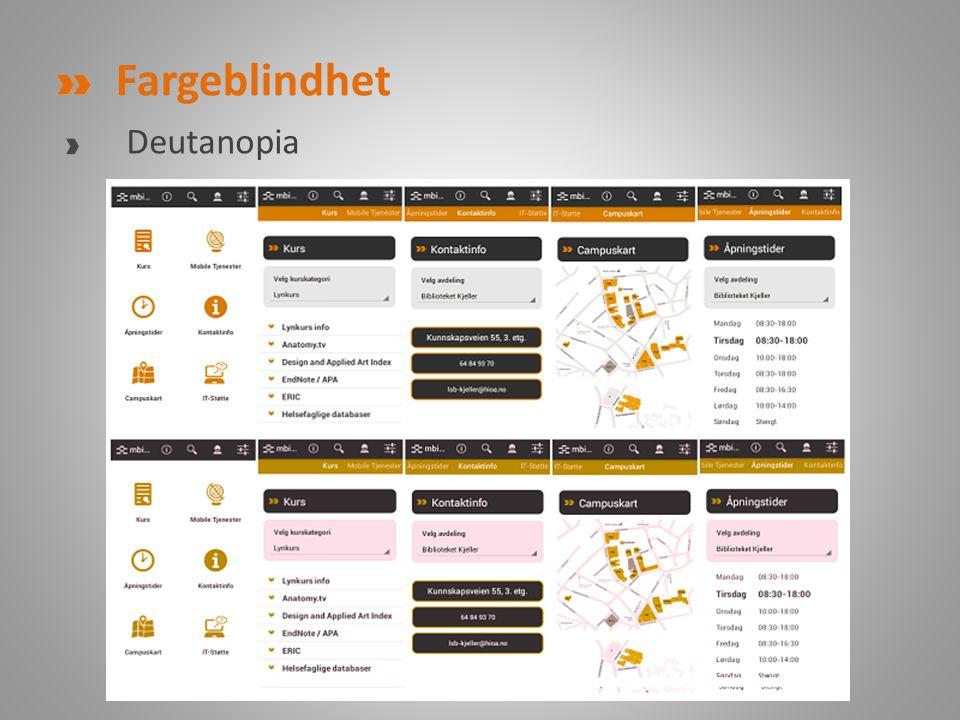 Fargeblindhet Deutanopia