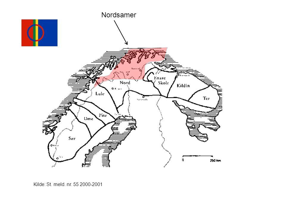 Nordsamer Kilde: St. meld. nr. 55 2000-2001